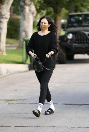 Rumer Willis - Dons black leggings near her home in Los Angeles