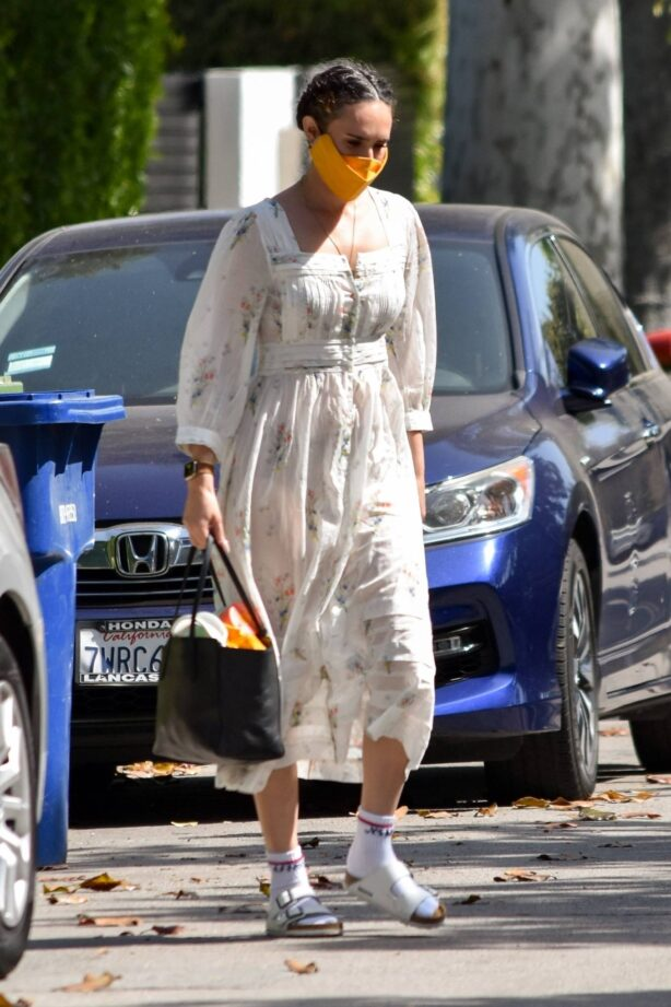 Rumer Willis - In a chic floral dress out in West Hollywood