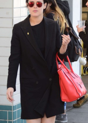 Rumer Willis in Black Coat out in Beverly Hills