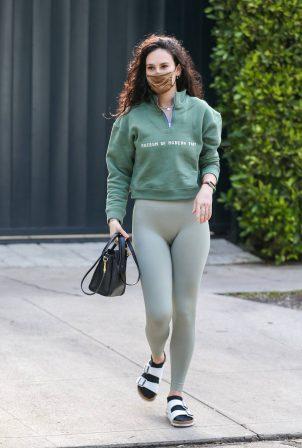 Rumer Willis - In grey leggings seen in Los Angeles