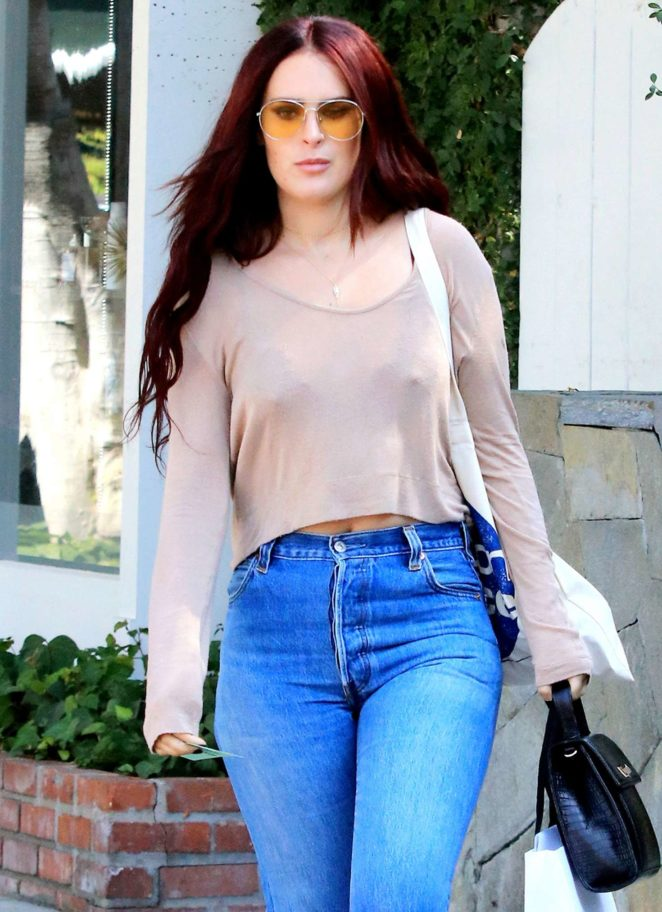 Rumer Willis in Jeans out and about in Los Angeles