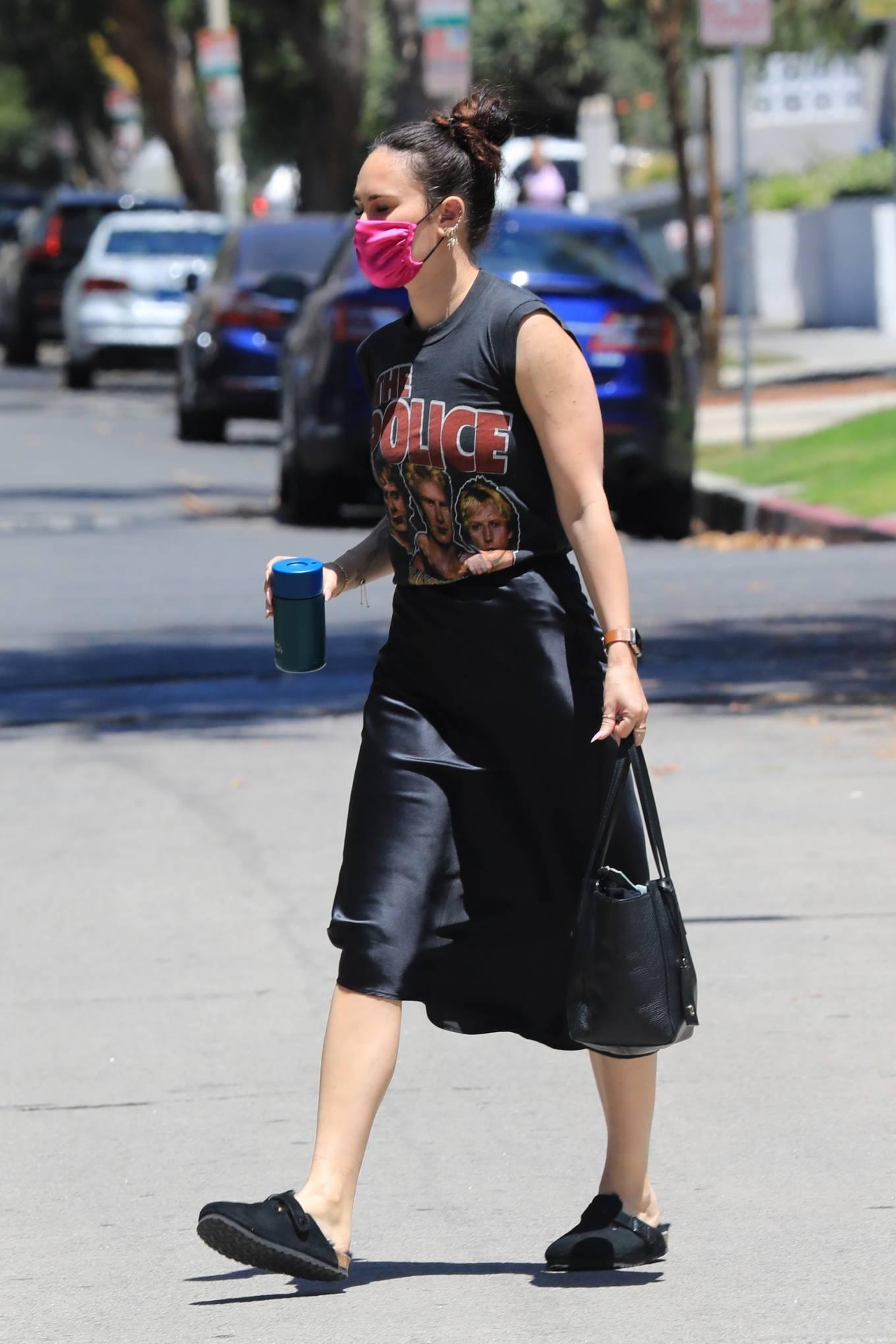 Rumer Willis - In long black skirt running errands in West Hollywood