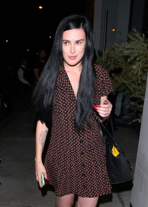 Rumer Willis in Mini Dress at Catch LA in West Hollywood