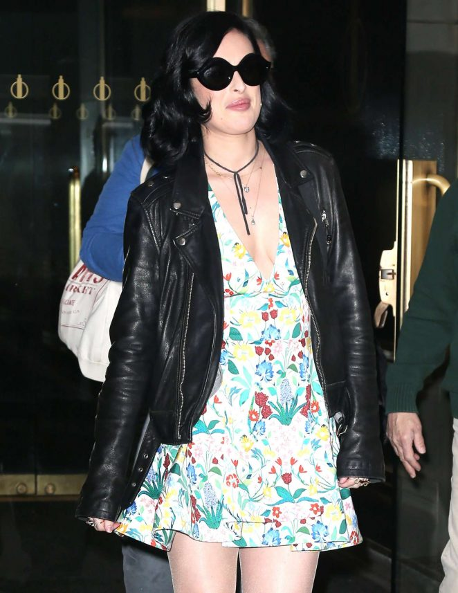 Rumer Willis in Mini Dress at 'The Today Show' in New York City