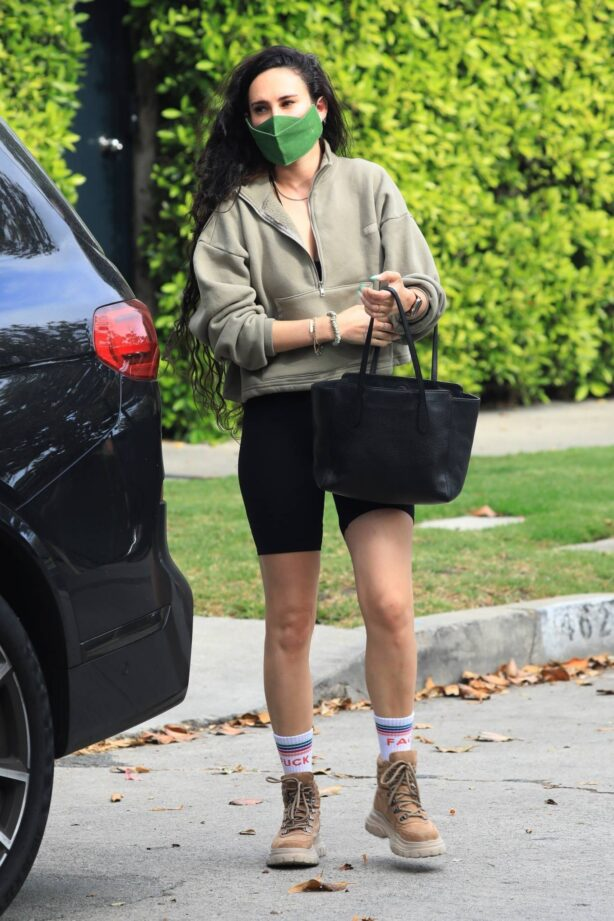Rumer Willis - In mini skirt leaves her private pilates class in West Hollywood