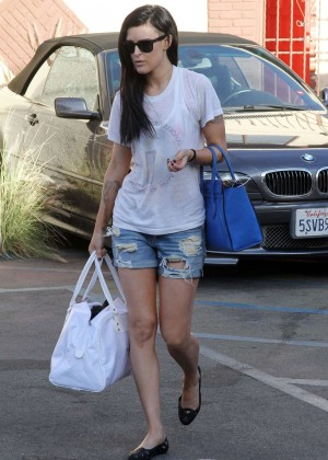 Rumer Willis in Shorts at DWTS Rehearsals in Hollywood
