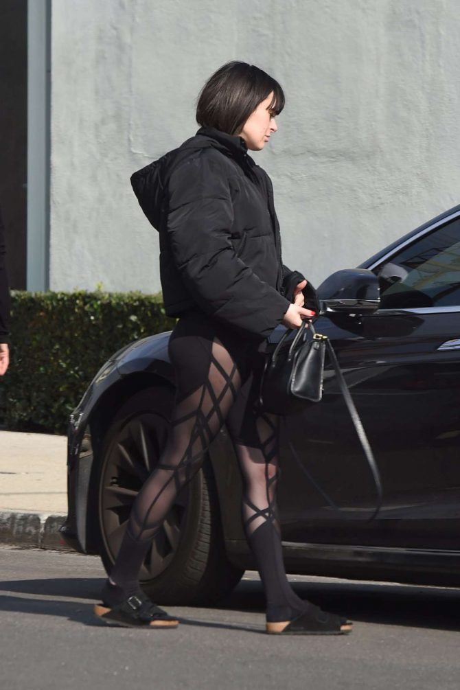 Rumer Willis in Tights - Out in Los Angeles
