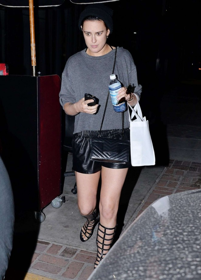 Rumer Willis - Leaves Nine Zero One Salon in West Hollywood