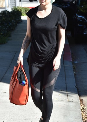 Rumer Willis Leaves The Gym in West Hollywood