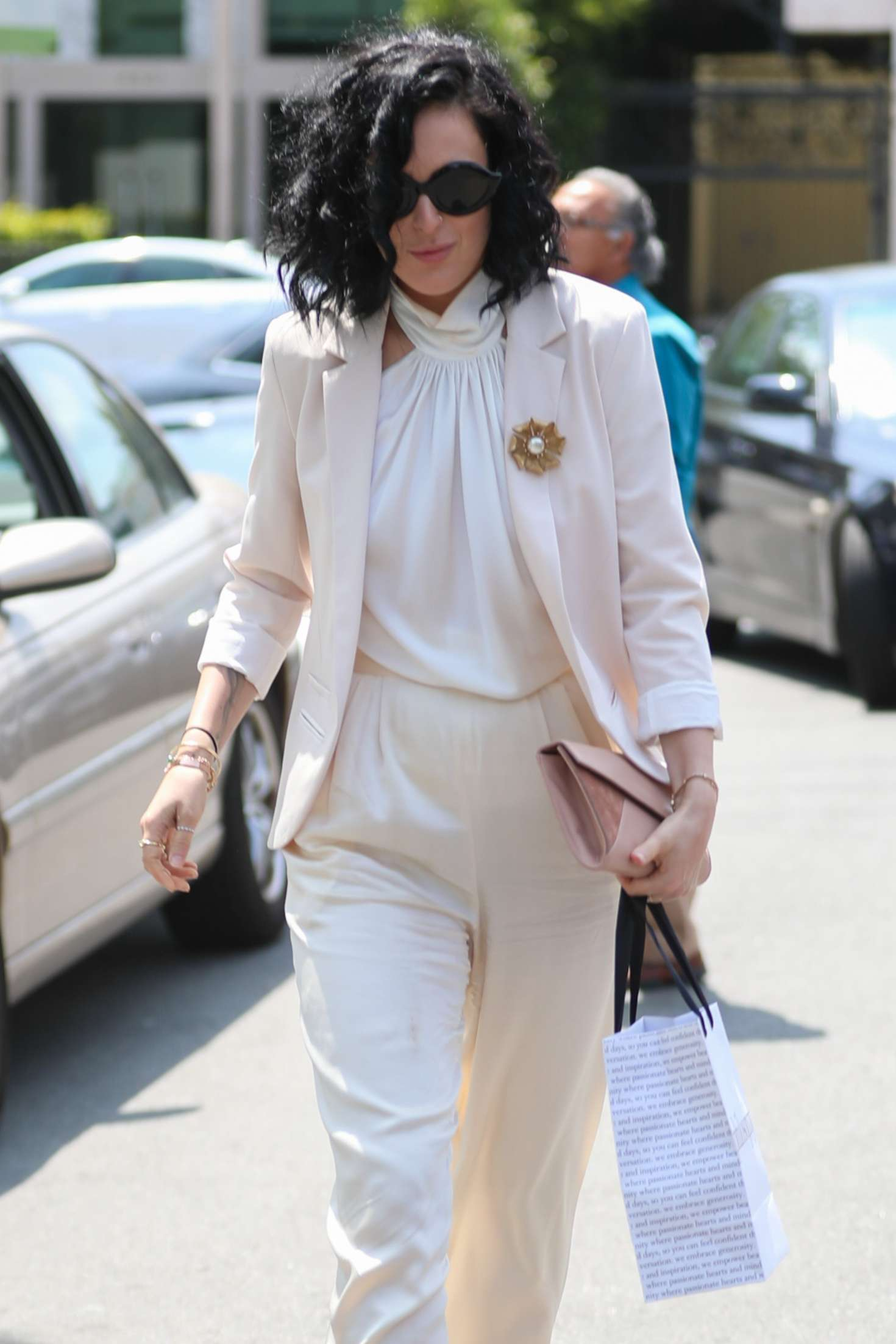 Rumer Willis Leaving Fig and Olive restaurant in West Hollywood