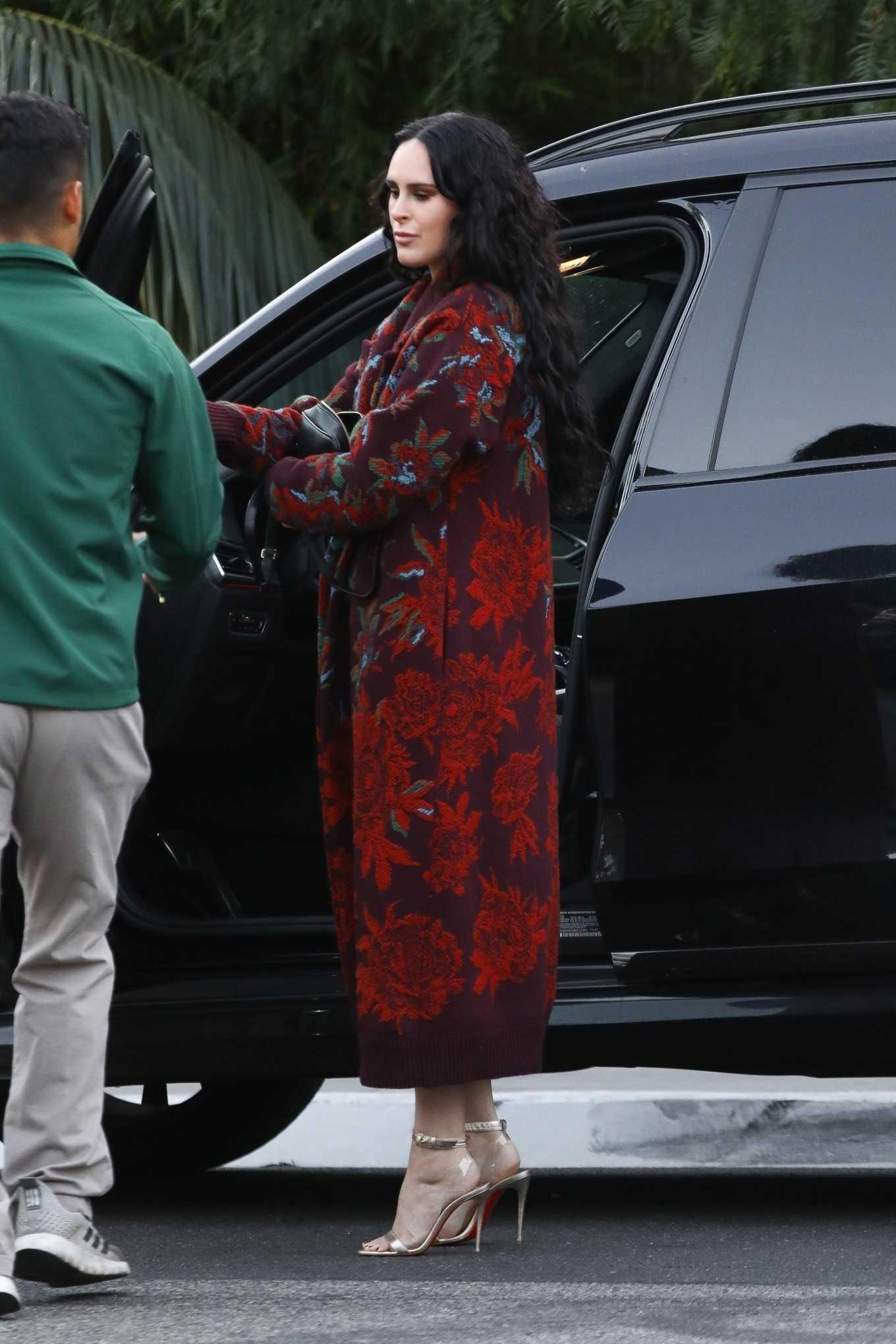 Rumer Willis 2020 : Rumer Willis looks stylish as she arrives for dinner-02