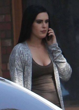 Rumer Willis on the set of 'Woman on The Ledge' in Los Angeles