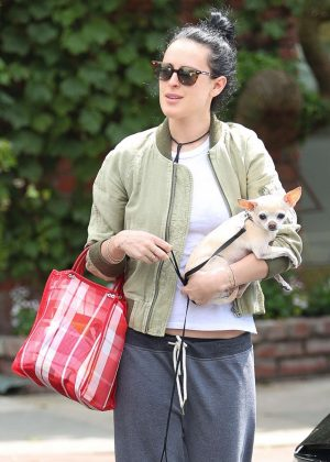 Rumer Willis out shopping in Los Angeles