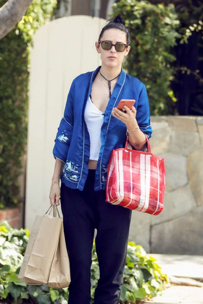 Rumer Willis Shopping at Moon Juice on Melrose