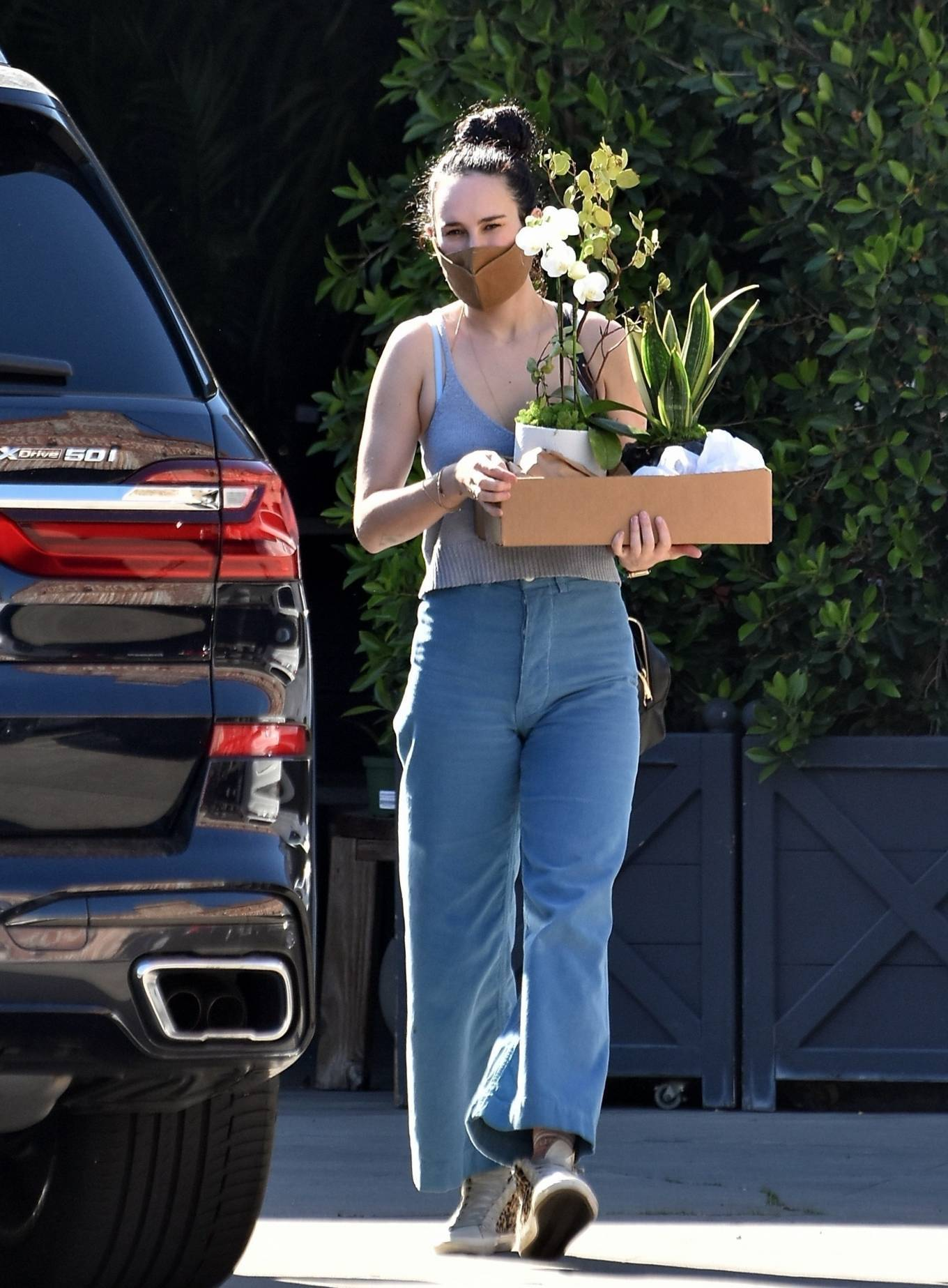 Rumer Willis 2021 : Rumer Willis – Shopping candids at Rolling Greens Nursery in Los Angeles-14