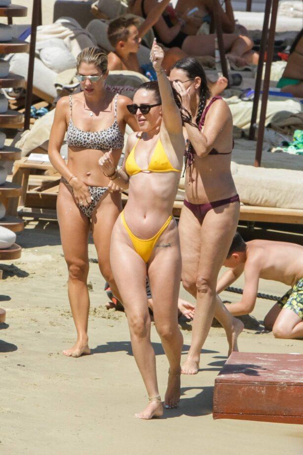 Rumer Willis - Wearing a bikini relaxing on a beach in Mykonos