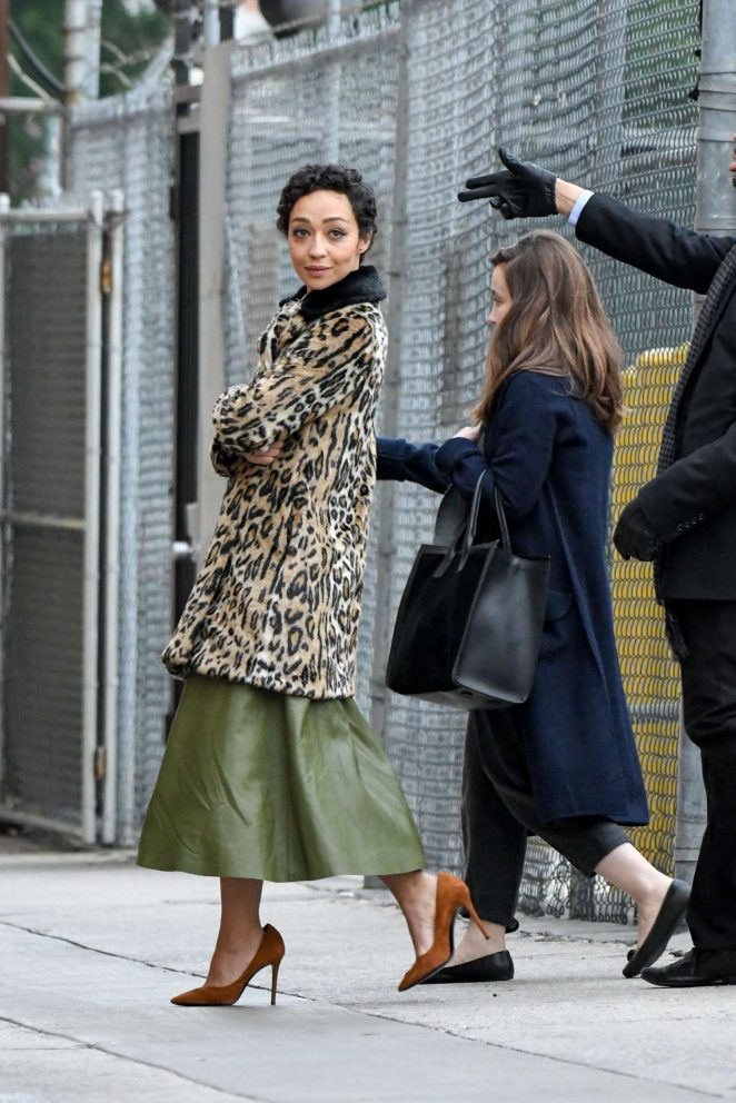 Ruth Negga - Arriving at Jimmy Kimmel Live! in Los Angeles