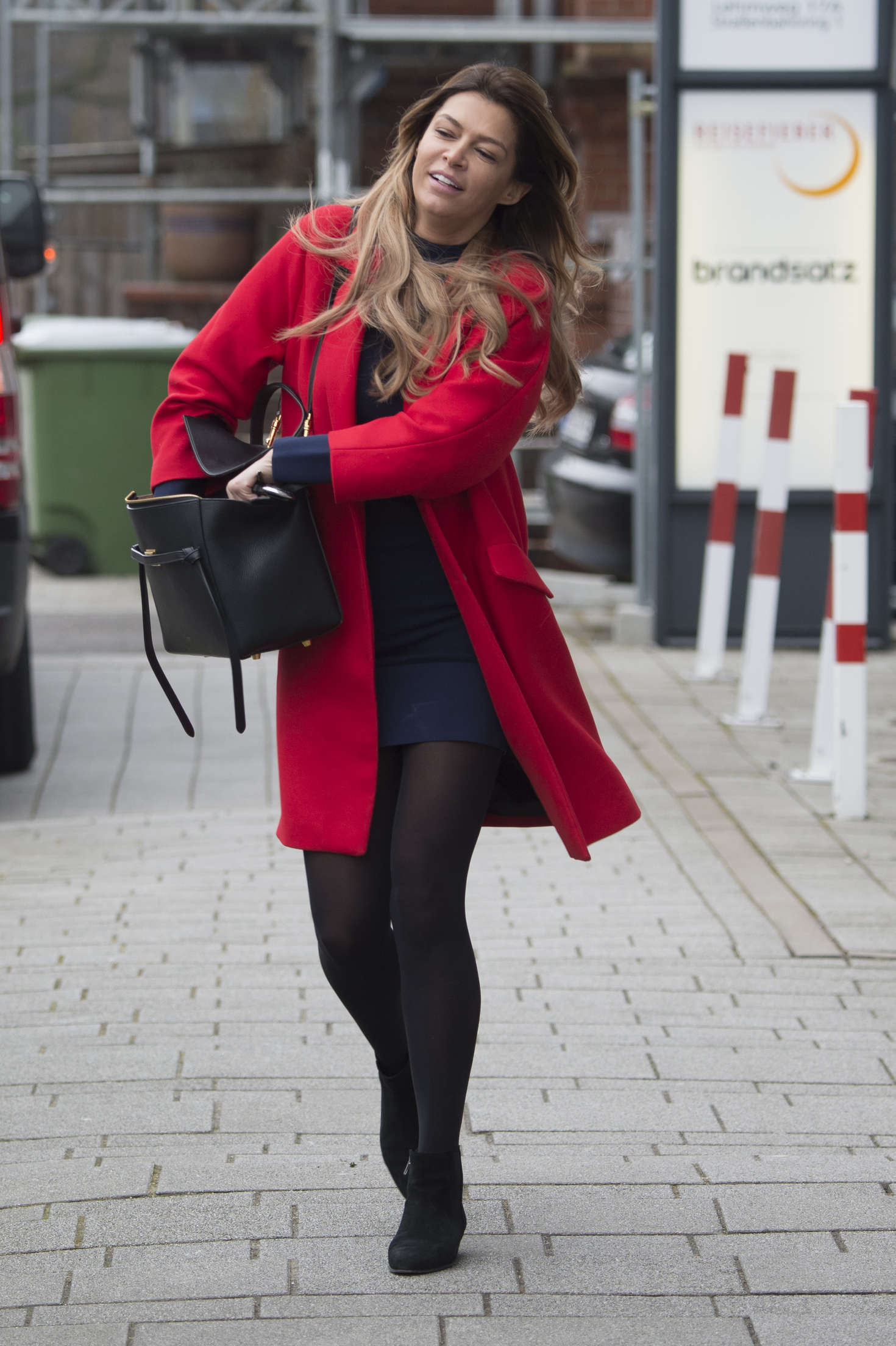 Sabia boulahrouz in red coat out in hamburg sabia boulahrouz in red coat altavistaventures Choice Image