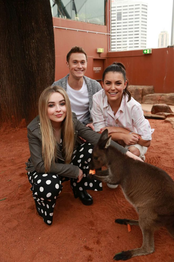 Sabrina Carpenter - Adam Ash and the Wildlife Park in Sydney