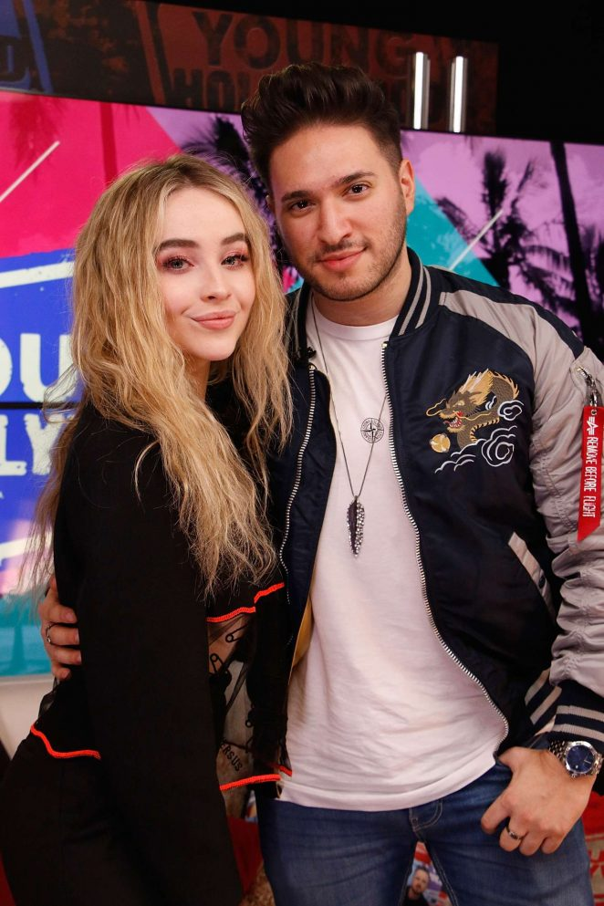 Sabrina Carpenter and Jonas Blue - Visit the Young Hollywood Studio in LA