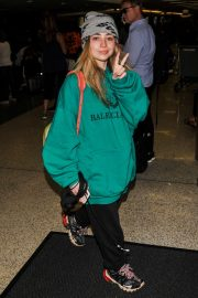 Sabrina Carpenter - Arrives at LAX International Airport in LA