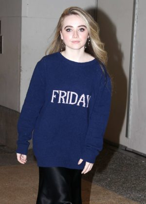 Sabrina Carpenter - Arrives to TRL in Time Square in NYC