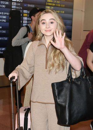 Sabrina Carpenter Arriving at Airport in Tokyo