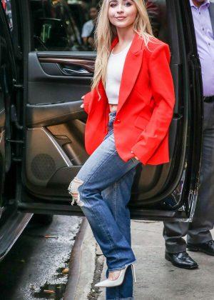 Sabrina Carpenter at 'Good Morning America' TV show in New York