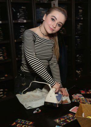 Sabrina Carpenter - Denim DIY Event at Hollister in New York City