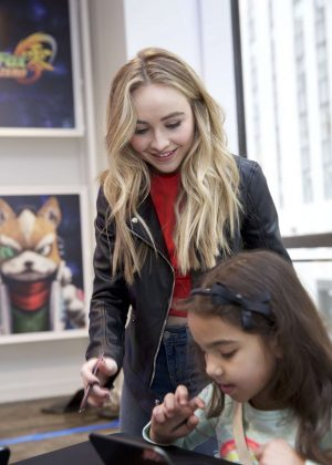 Sabrina Carpenter - Disney Art Academy Event in New York City