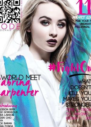 Sabrina Carpenter - Kode Magazine Cover (December 2015)