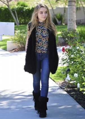 Sabrina Carpenter in Jeans out in Burbank