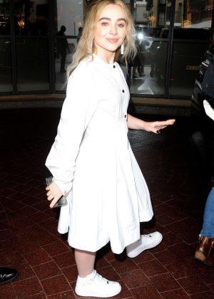 Sabrina Carpenter - Leaving the Soho Hotel in London