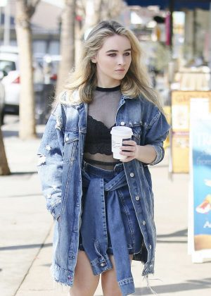 Sabrina Carpenter out for a coffee in Los Angeles