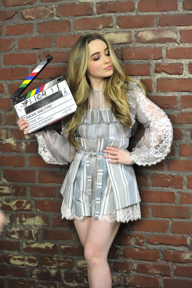 Sabrina Carpenter- 'Smoke and Fire' Still (Behind The Secenes)
