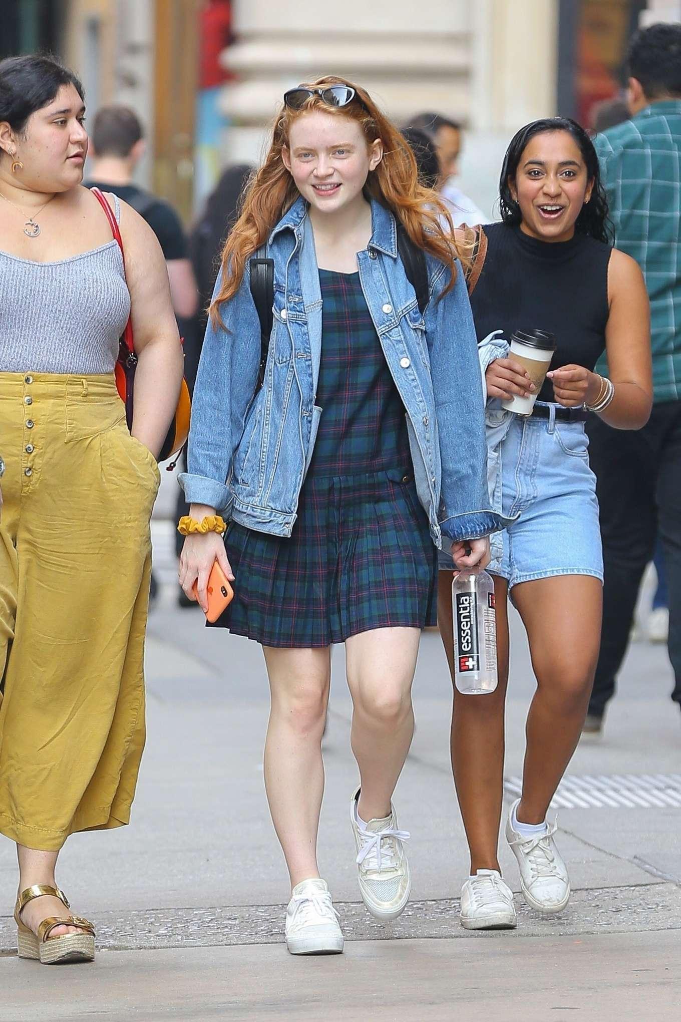 Sadie Sink 2019 : Sadie Sink in Mini Dress – Out in NY-13