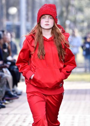 Sadie Sink - Undercover Show Runway 2018 in Paris