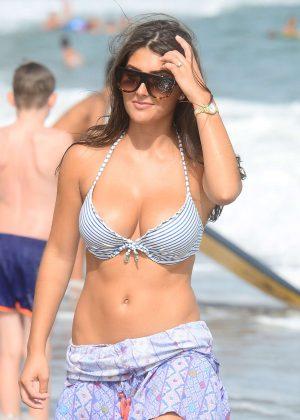 Sadie Stuart in Bikini Top on The Beach in Marbella