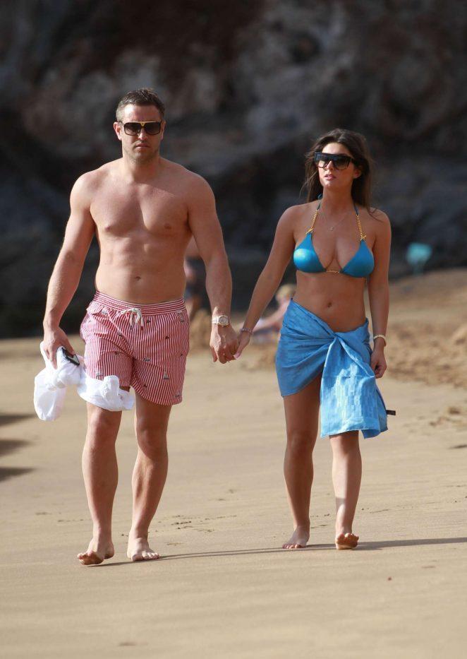 Sadie Stuart in Blue Bikini in Tenerife