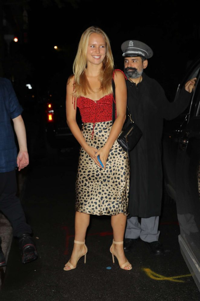 Sailor Brinkley-Cook - Leaving the Carlyle Hotel in New York City