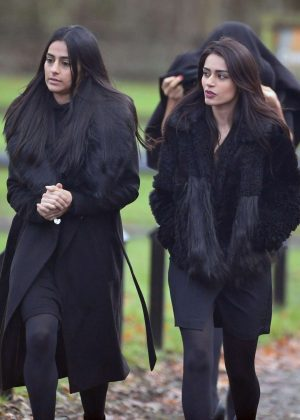 Sair Khan and Bhavna Limbachia on set of 'Coronation Street' in Manchester