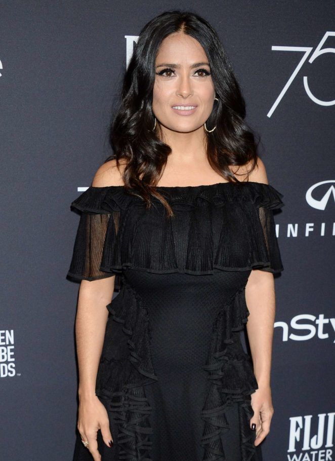 Salma Hayek - 2017 HFPA and InStyle Golden Globe Season in LA