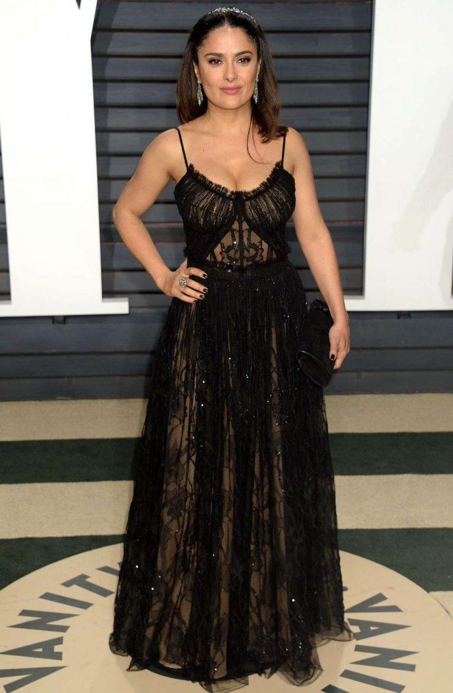 Salma Hayek - 2017 Vanity Fair Oscar Party in Hollywood