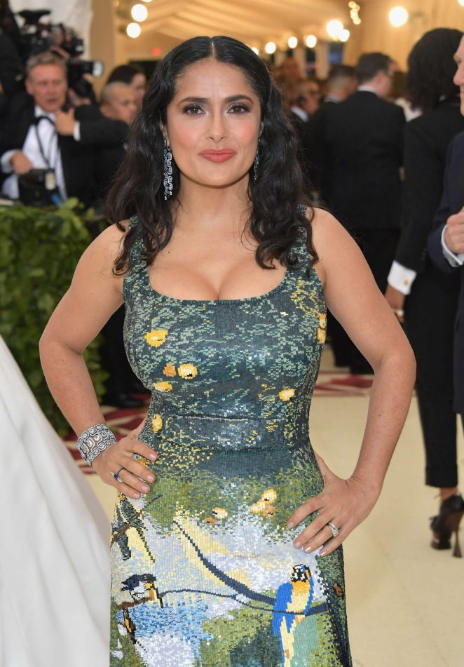 Salma Hayek – 2018 MET Costume Institute Gala in NYC
