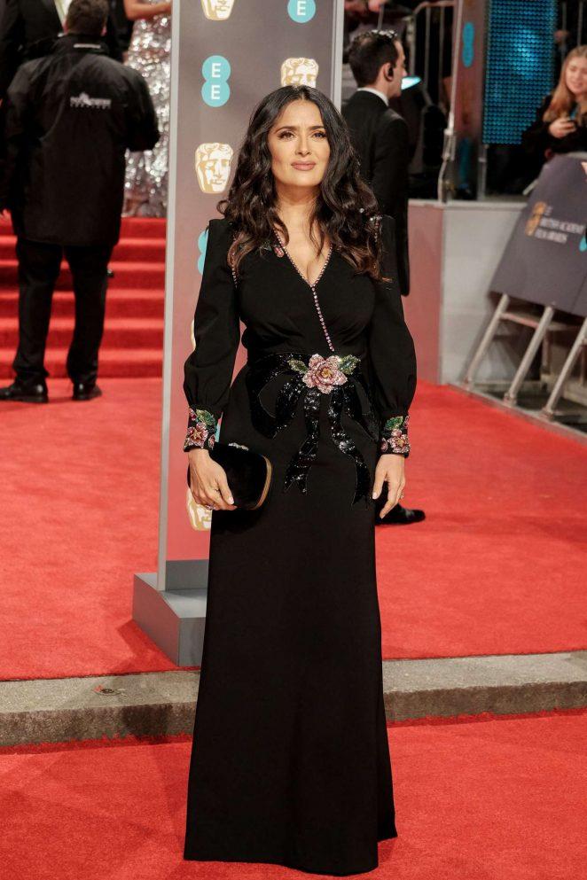 Salma Hayek: 2018 BAFTA Awards -01