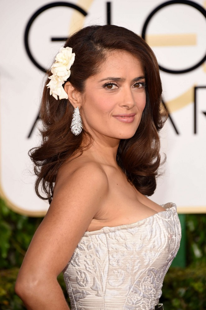 Salma Hayek - 2015 Golden Globe Awards in Beverly Hills