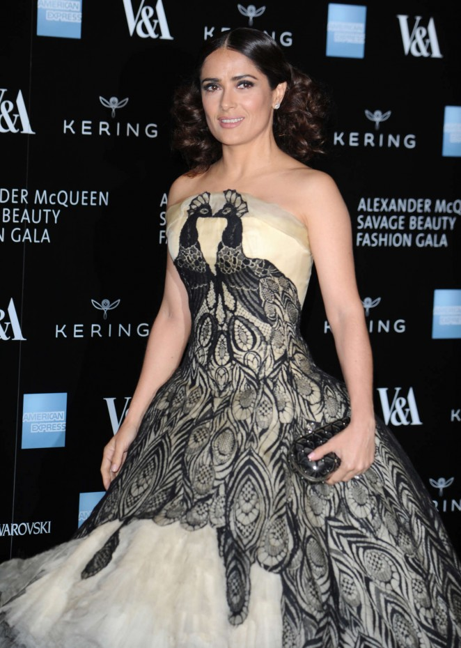 Salma Hayek - Alexander McQueen: Savage Beauty Gala in London