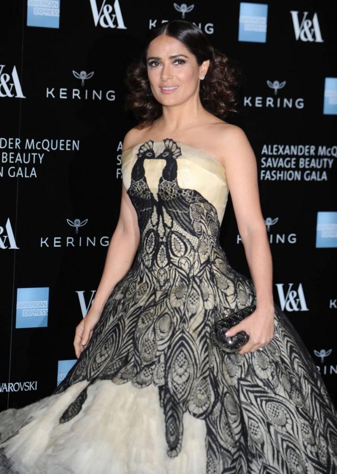 Salma Hayek – Alexander McQueen: Savage Beauty Gala in London