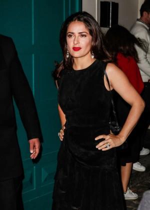 Salma Hayek - Alexander McQueen Show at Paris Fashion Week
