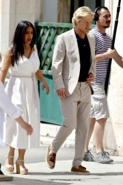 Salma Hayek and Owen Wilson - Filming their upcoming movie 'Bliss' in Croatia